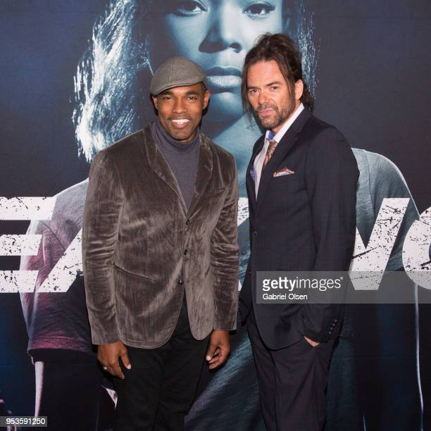 Jason George and Billy Burke arrive to Universal Pictures' special screening of Breaking In at ArcLight Cinemas on May 1 2018 in Hollywood California