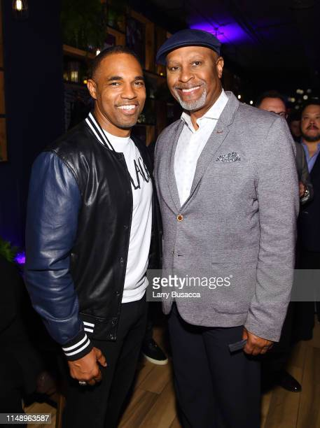 Jason George and James Pickens Jr attend the Entertainment Weekly PEOPLE New York Upfronts Party on May 13 2019 in New York City