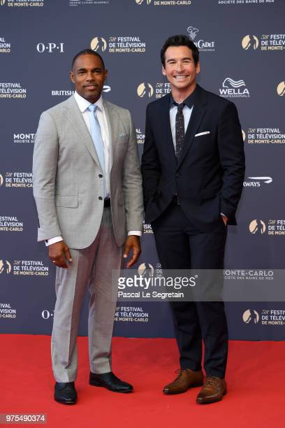 Jason George and Jay Hayden attend the opening ceremony of the 58th Monte Carlo TV Festival on June 15 2018 in MonteCarlo Monaco