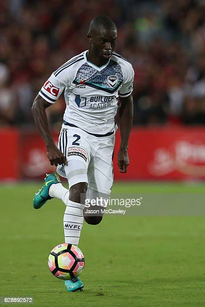 Jason Geria of the Victory controls the ball during the round 10 ALeague match between the Western Sydney Wanderers and the Melbourne Victory at ANZ...