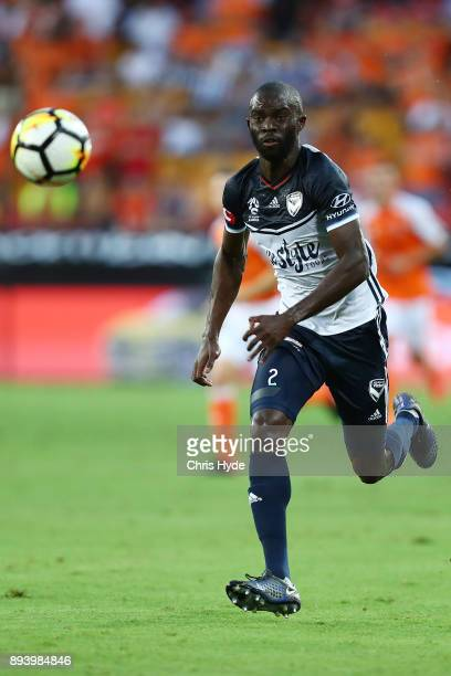 Jason Geria of the Victory runs for the ball during the round 11 ALeague match between the Brisbane Roar and the Melbourne Victory at Suncorp Stadium...