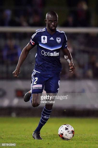 Jason Geria of the Victory runs with the ball during the round of 16 FFA Cup match between Adelaide United and Melbourne Victory at Marden Sports...