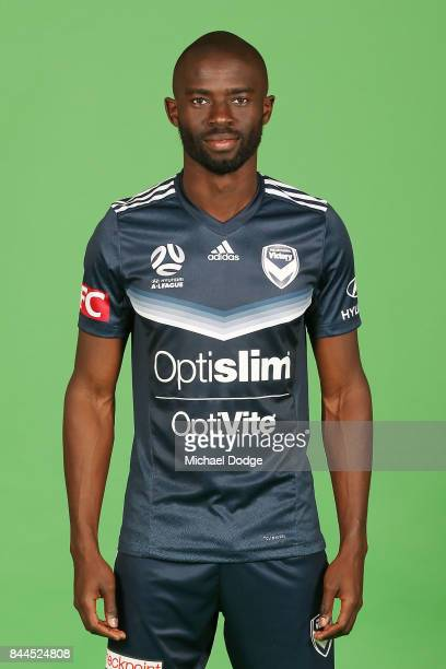 Jason Geria poses during the Melbourne Victory 2017/18 ALeague headshots session at AAMI Park on September 8 2017 in Melbourne Australia