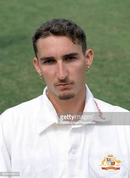Jason Gillespie of Australia during the 1997 tour of England at Lord's Cricket Ground London 13th May 1997