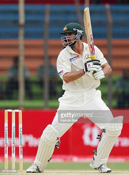 Jason Gillespie of Australia in action during day two of the Second Test between Bangladesh and Australia played at the Chittagong Divisional Stadium...
