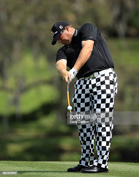 Jason Gore of the USA drives at the 16th hole during the second round of the Arnold Palmer Invitational presented by Mastercard at the Bayhill Club...