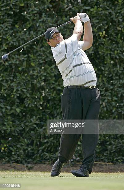 Jason Gore on the first tee during the third round of the 2005 US Open Golf Championship at Pinehurst Resort course 2 in Pinehurst North Carolina on...