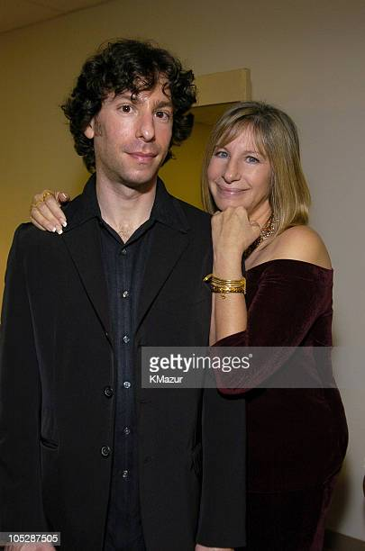 Jason Gould and Barbra Streisand during Human Rights Campaign Honors Barbra Streisand Show and Audience at Century Plaza Hotel in Los Angeles...