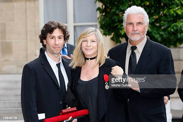 Jason Gould Barbara Streisand and James Brolin attend a formal ceremony at the Elysee Palace honoring Barbara Streisand with an induction into...