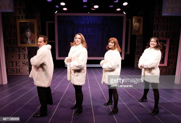 Jason Graae Emily Skinner Lynne Halliday and Cameron Adams perform during the opening night of Inventing Mary Martin at The York Theatre at Saint...
