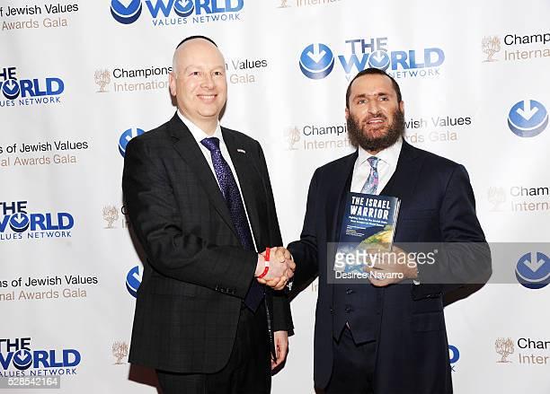 Jason Greenblatt and Rabbi Shmuley Boteach attend the 4th Annual Champions Of Jewish Values International Awards Gala at Marriott Marquis Broadway...