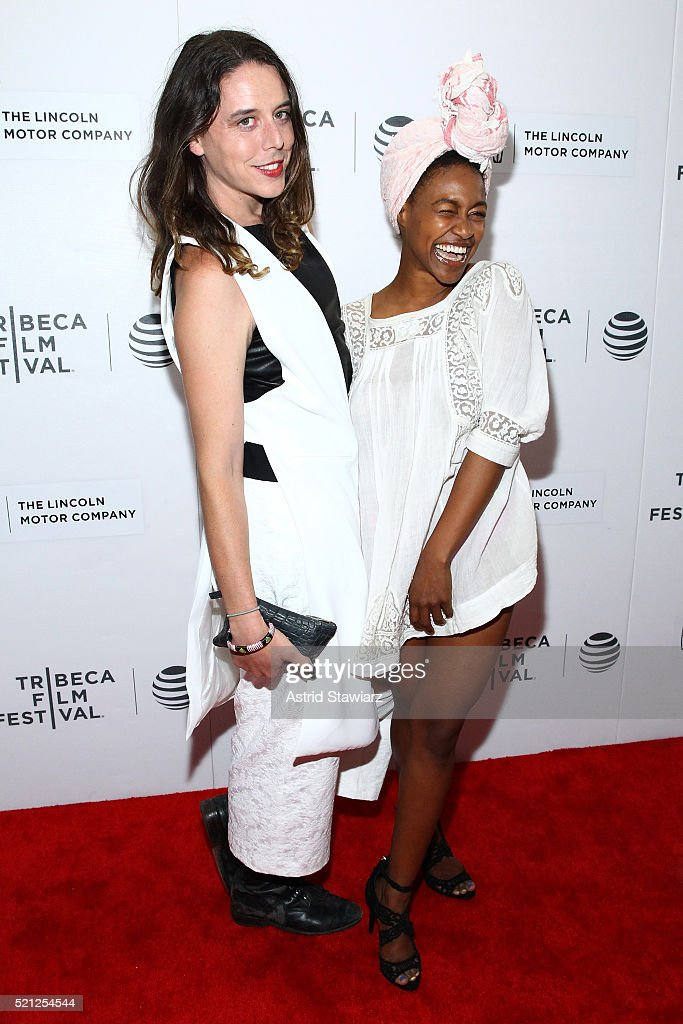 Jason Greene (L) and Daniele Watts attend the 2016 Tribeca Film Festival Shorts: New York Then at Regal Battery Park Cinemas on April 14, 2016 in New York City.