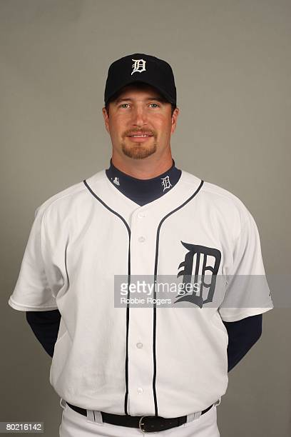 Jason Grilli of the Detroit Tigers poses for a portrait during photo day at Marchant Stadium on February 23 2008 in Lakeland Florida