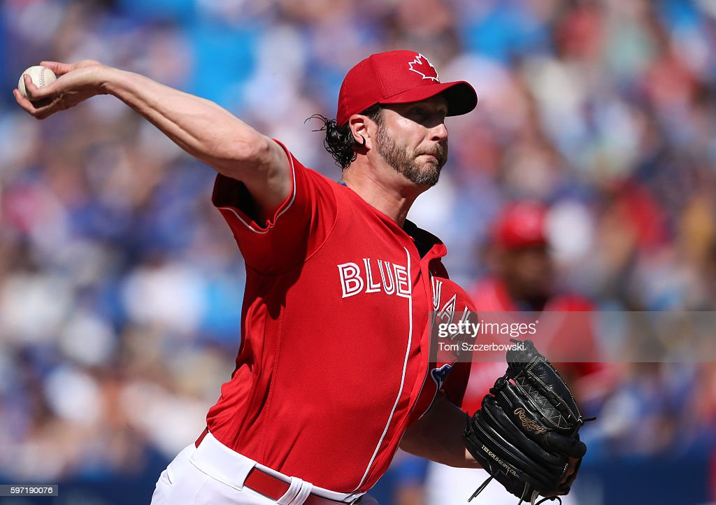 Jason Grilli #37 of the Toronto Blue Jays delivers a pitch in the eighth inning during MLB game action against the Minnesota Twins on August 28, 2016 at Rogers Centre in Toronto, Ontario, Canada.