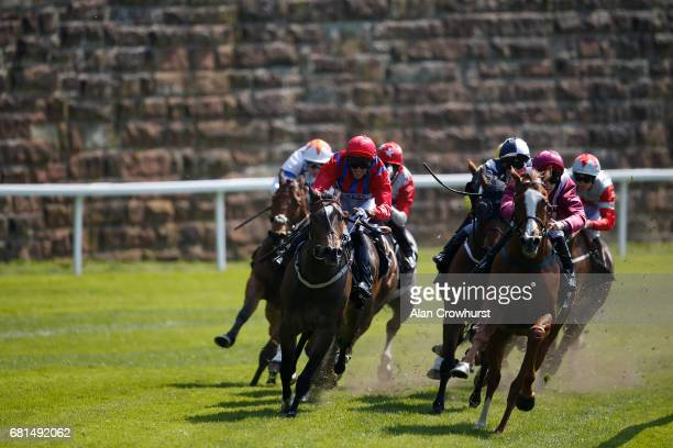 Jason Hart riding El Astronaute win The Boodles Diamond Handicap Stakes at Chester Racecourse on May 10 2017 in Chester England