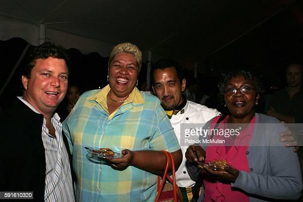 Jason Henzell Aloun N'dombet Assamba Darren Lee and Barbara James attend A Magical Evening with New York's Finest Chefs at Taste of Summer A Benefit...