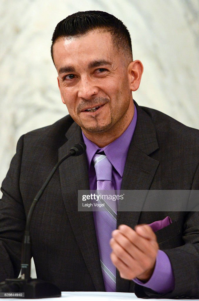Jason Hernandez speaks during #JusticReformNow Capitol Hill Advocacy Day at Russell Senate Office Building on April 28, 2016 in Washington, DC.