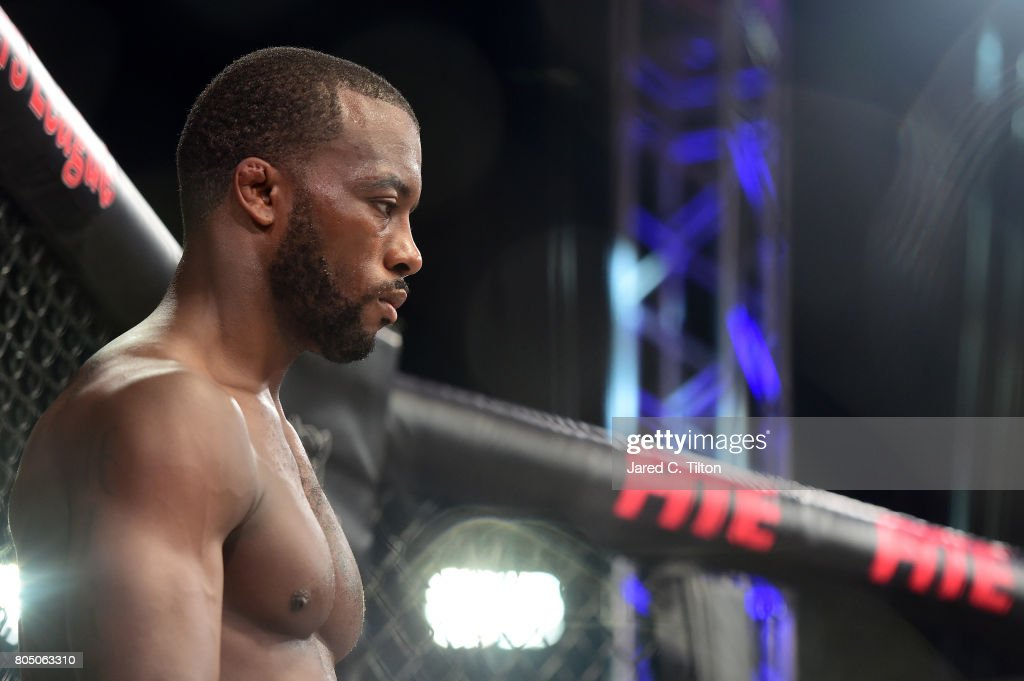 Jason High prepares for the lightweight event during Professional Fighters League: Daytona at Daytona International Speedway on June 30, 2017 in Daytona Beach, Florida.