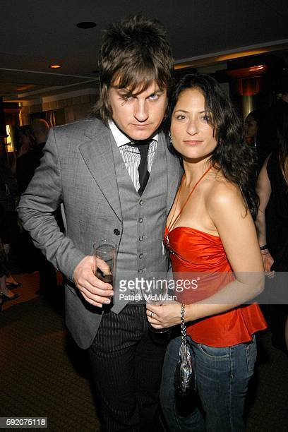Jason Hill and Judie Aronson attend Richard Beckman and Conde Nast after party for Fashion Rocks at Rainbow Room on September 8 2005 in New York City