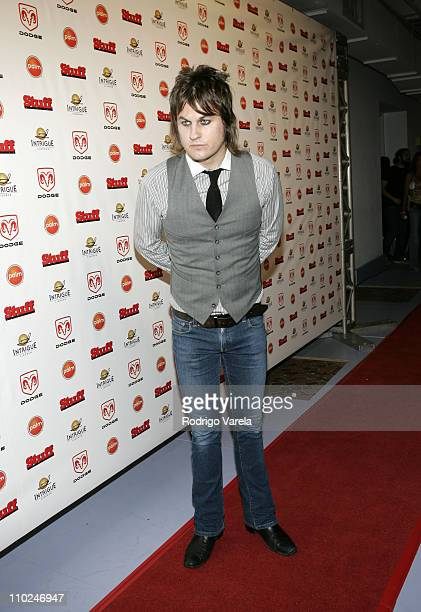 Jason Hill of Louis XIV during 2005 MTV VMA Stuff Magazine Party Arrivals at Sagamore Hotel in Miami Beach Florida United States