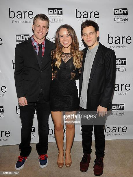 Jason Hite Elizabeth Judd and Taylor Trensch attends BARE The Musical Opening Night After Party at Out Hotel on December 9 2012 in New York City