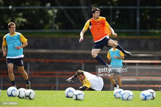 Jason Hoffman follows the ball during an Olyroos training session at Leichhardt Oval on September 16, 2010 in Sydney, Australia.