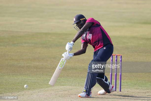 Jason Holder of Northants during the Royal London One Day Cup match between Durham County Cricket Club and Northamptonshire County Cricket Club at...