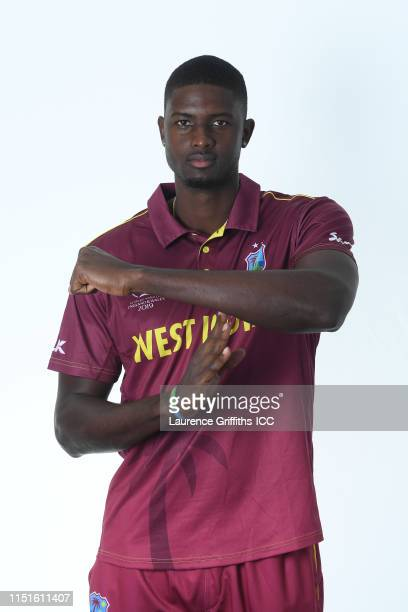 Jason Holder of West Indies poses for a portrait prior to the ICC Cricket World Cup 2019 at The Radisson Blu Hotel on May 25, 2019 in Bristol,...
