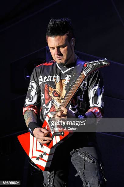 Jason Hook of Five Finger Death Punch performs at Champions Park on September 30 2017 in Louisville Kentucky