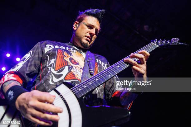 Jason Hook of Five Finger Death Punch performs during Riff Fest at DTE Energy Music Theater on September 29 2017 in Clarkston Michigan