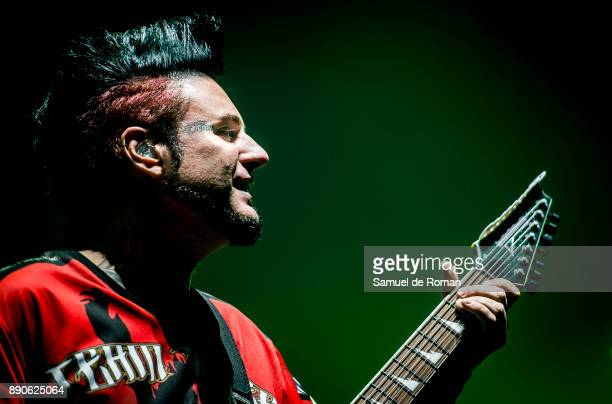 Jason Hook of Five Finger Death Punch performs in concert on December 11 2017 in Madrid Spain