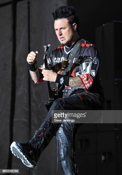 Jason Hook of Five Finger Death Punch performs on Day 2 of Monster Energy Aftershock Festival 2017 at Discovery Park on October 22 2017 in Sacramento...
