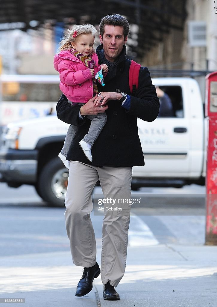 Jason Hoppy and Bryn Hoppy are seen in Tribeca on April 3, 2013 in New York City.