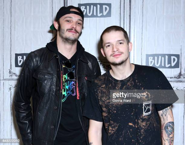 Jason Huber and Jordan Kelley of Cherub appear to promote Your Girlfriend Already Bought Tickets Tour during the BUILD Series at Build Studio on...