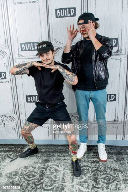 Jason Huber and Jordan Kelley of Cherub discuss 'All In' with the Build Series at Build Studio on June 13 2018 in New York City