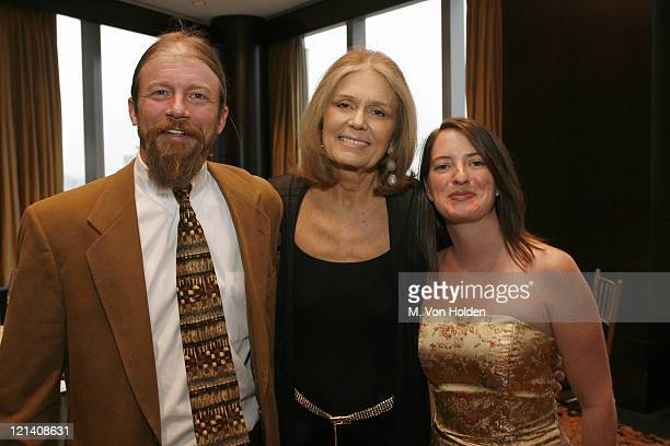 Jason Huber Gloria Steinem Margaret Chapman during Ms Foundation for Women's 18th Annual Gloria Awards at Mandarin Hotel in New York NY United States