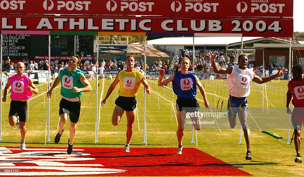 The stawell gift photos and images getty images jason hunt of barbados 2nd r in the white wins the negle Choice Image