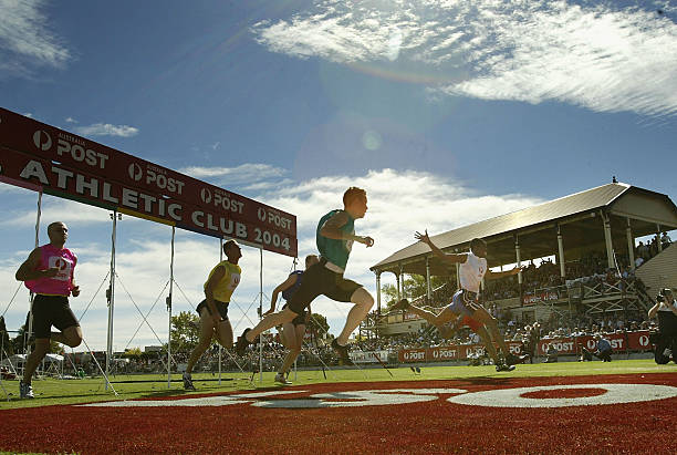 The stawell gift photos and images getty images jason hunt of barbados r in the white wins the 2004 australia negle Choice Image