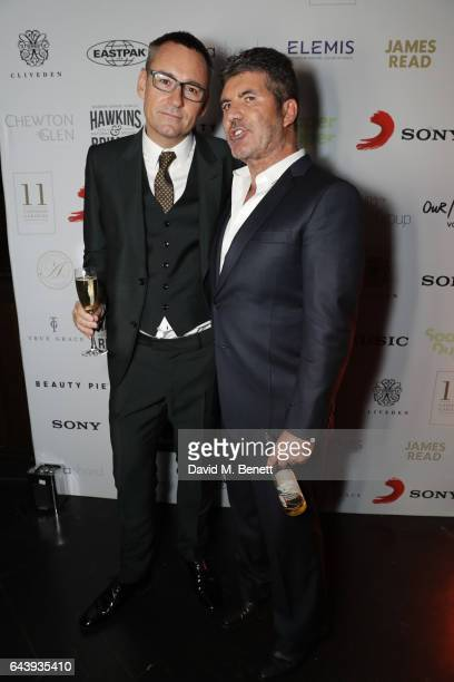 Jason Iley and Simon Cowell attend the Sony Music BRIT Awards 2017 after party at Aqua Shard on February 22 2017 in London England