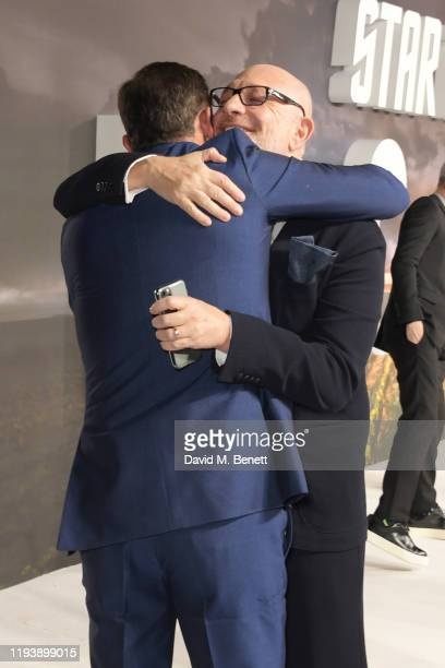"""Jason Isaacs and Akiva Goldsman attend the European Premiere of Amazon Original """"Star Trek: Picard"""" at Odeon Luxe Leicester Square on January 15,..."""