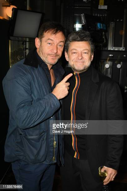 Jason Isaacs and Andy Serkis attend the Into Film Award 2019 at Odeon Luxe Leicester Square on March 04, 2019 in London, England.