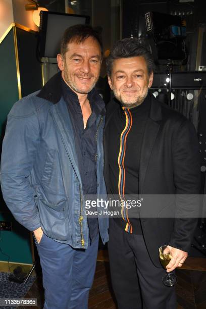 Jason Isaacs and Andy Serkis attend the Into Film Award 2019 at Odeon Luxe Leicester Square on March 04 2019 in London England