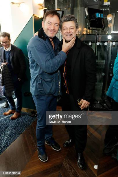 Jason Isaacs and Andy Serkis attend the Into Film Awards at Odeon Luxe Leicester Square on March 04, 2019 in London, England.