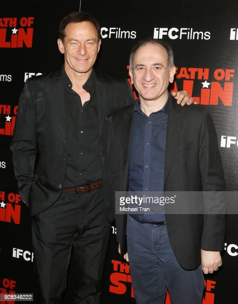 Jason Isaacs and Armando Iannucci arrive to the Los Angeles premiere of IFC Films' 'The Death Of Stalin' held at The Theatre at Ace Hotel on March 6...