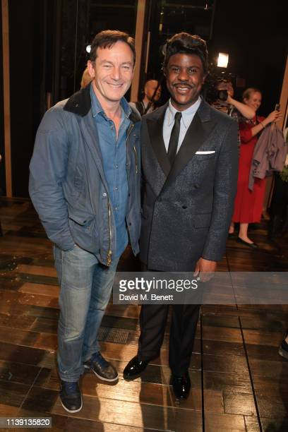 Jason Isaacs and Ashley Zhangazha attend the 1st birthday gala performance of Tina The Tina Turner Musical at The Aldwych Theatre on April 24 2019 in...