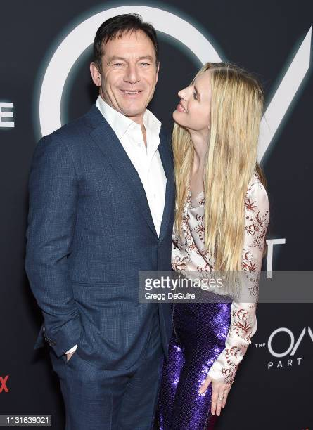 "Jason Isaacs and Brit Marling arrive at Netflix's ""The OA Part II"" Premiere at LACMA on March 19, 2019 in Los Angeles, California."