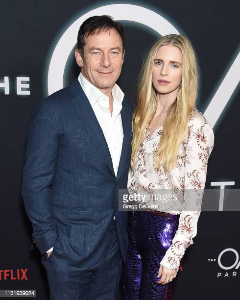 """Jason Isaacs and Brit Marling arrive at Netflix's """"The OA Part II"""" Premiere at LACMA on March 19, 2019 in Los Angeles, California."""