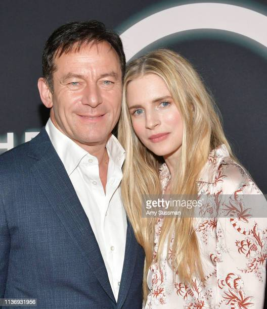 "Jason Isaacs and Brit Marling attend Netflix's ""The OA Part II"" Premiere Photo Call at LACMA on March 19, 2019 in Los Angeles, California."