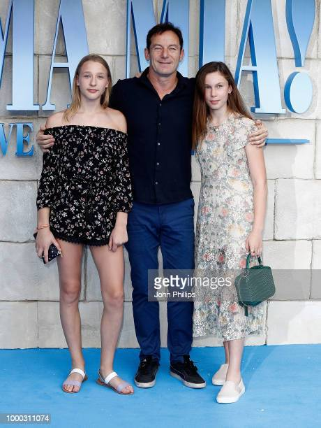 Jason Isaacs and daughters Lily and Ruby attend the UK Premiere of 'Mamma Mia Here We Go Again' at Eventim Apollo on July 16 2018 in London England