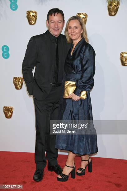 Jason Isaacs and Emma Hewitt attend the EE British Academy Film Awards at Royal Albert Hall on February 10, 2019 in London, England.